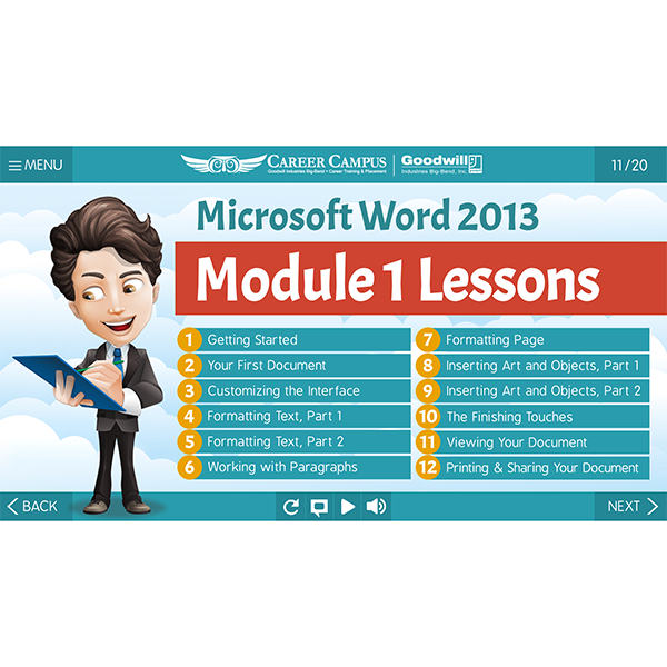 PowerPoint module outline
