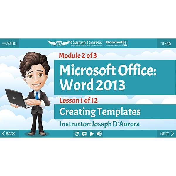 2013 Word - Mod 2 - Lesson 1 - Title