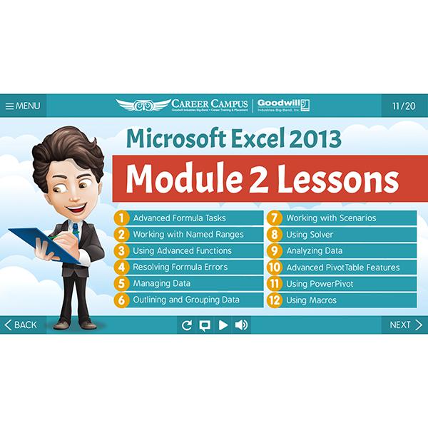 Excel 2013 - Mod 2 - Lesson 1 - Outline