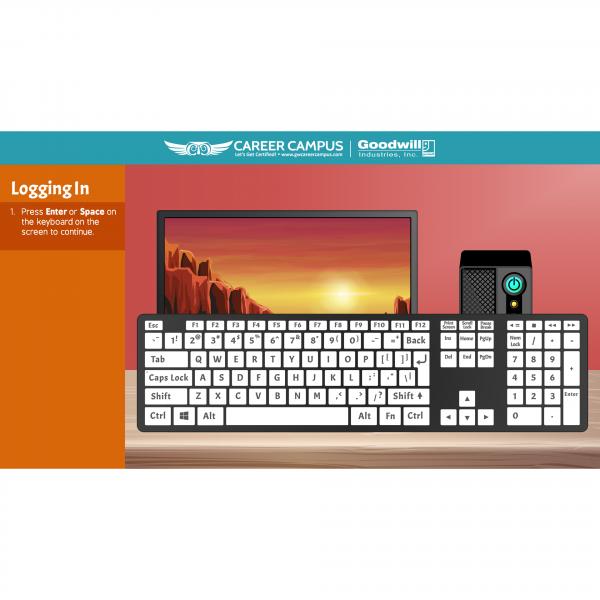 logging in enter or space bar image