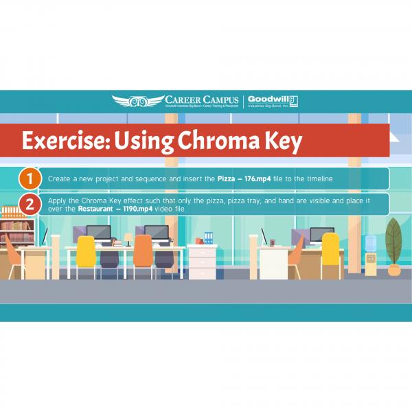 using a chroma key image