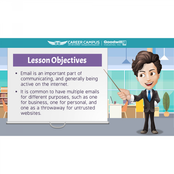 lesson objectives email image