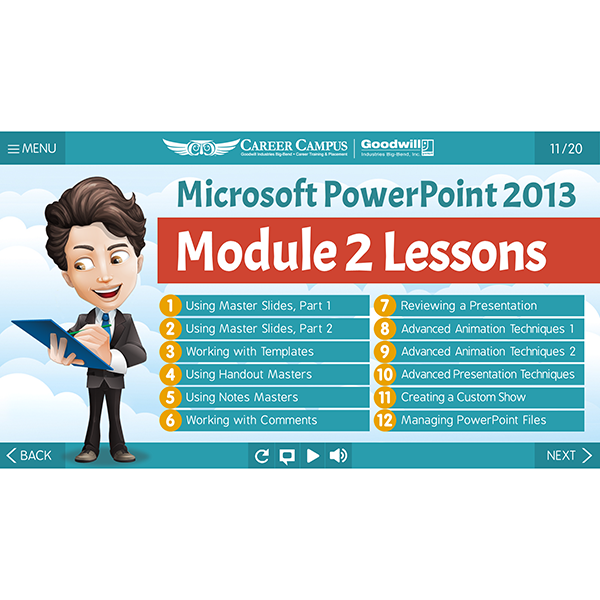 Microsoft PowerPoint 2013 - Module 2 - Lesson 1 - Outline