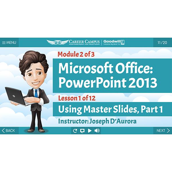 Microsoft PowerPoint 2013 - Module 2 - Lesson 1 - Title