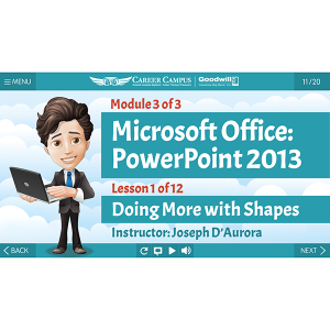 Microsoft PowerPoint 2013 - Module 3 - Lesson 1 - Title