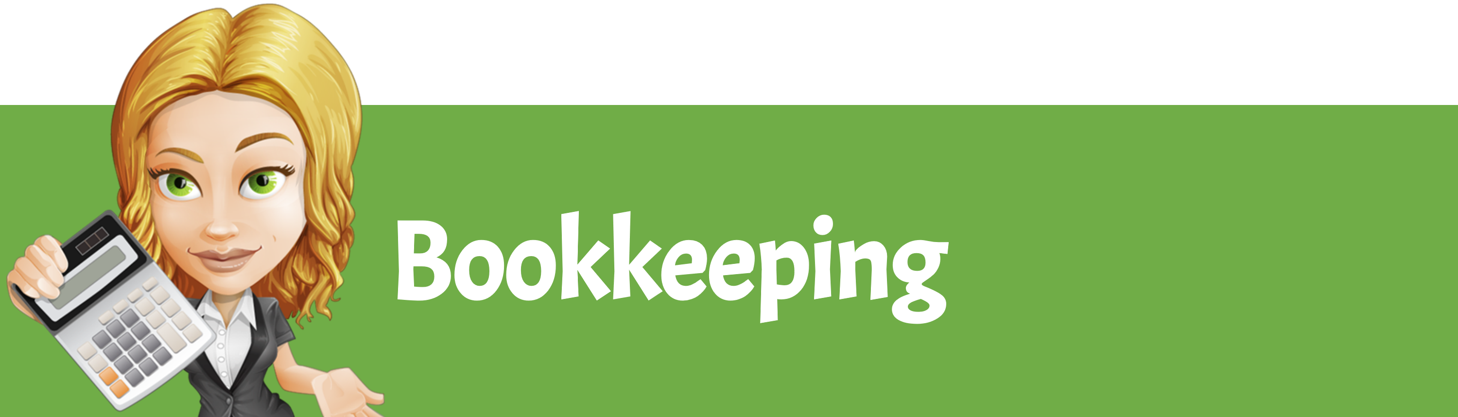 bookkeeping lady with calc