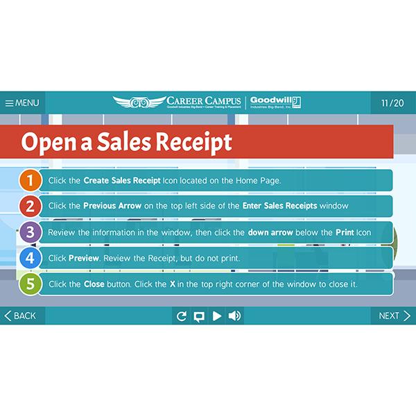 open a sales receipt